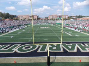 The Charlotte 49ers, newest FBS program to start play in 2015, will host football games at Jerry Richardson Stadium.