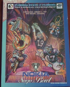 We attended the 1996 Sugar Bowl when No. 1 Florida defeated No. 2 Florida State for the National Championship.