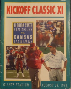 Bobby Bowden enjoyed a 42-0 win over the Kansas Jayhawks with Heisman winner Charlie Ward at QB on their way to a national title.