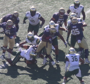 FB Chris Swain gives Navy the power in their triple-option attack.