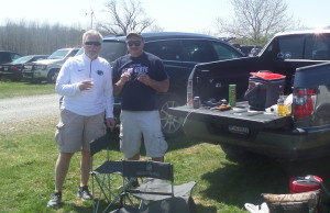 John and I prepared our pregame analysis while tailgating.