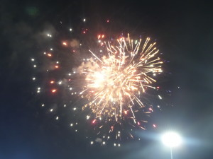 Fireworks during halftime had us wanting more during the second half of play to come.
