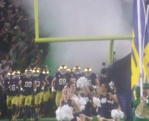 The Irish take the field in front of 80,000 with a 2-4 record!