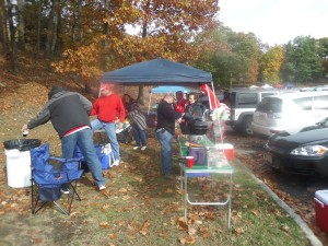 Pre-game tailgating at Marist.