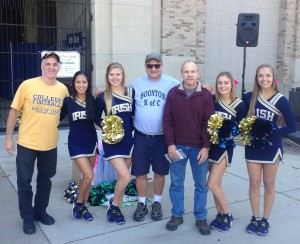 We met the Notre Dame Dance team at Notre Dame Stadium on Friday to start off a great weekend.