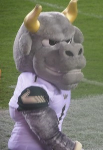 "You can imagine the abuse that the Bull mascot, ""Rocky"", took from fans from Philadelphia. I just wasn't ""Rocky, Rocky,Rocky!"""