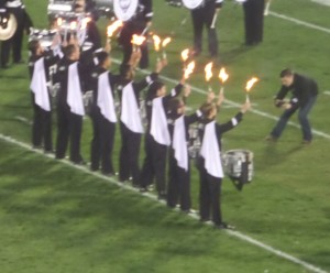 The UConn drum line wa certainly on fire Friday evening, but the Husky offense sure wasn't.