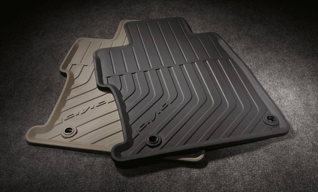 2012 Honda Civic 4dr Black All Season Floor Mats 08p13