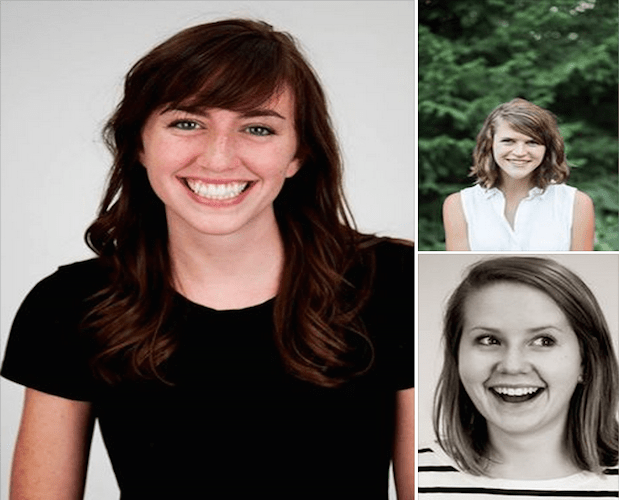 "The ""After the Fall"" reporting team (clockwise starting on left): Jessica Contrera, Anna Teeter and Emma Grdina."