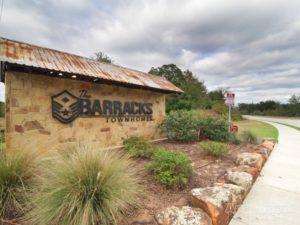 The Barracks entry