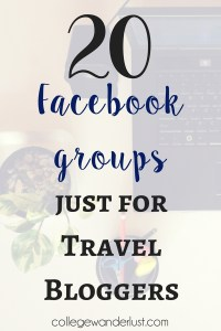 Facebook groups for Travel Bloggers