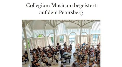 Collegium Musicum begeistert auf dem Petersberg