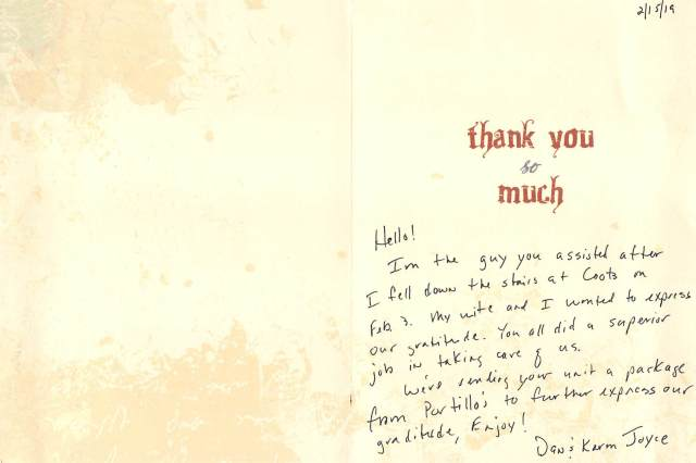 CCFR Thank You Letters