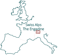 Walking Holidays in Switzerland - Location Map