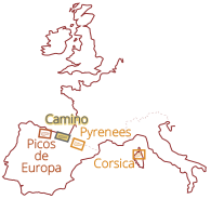 Pyrenees, Picos de Europa, Hiking the GR11, The Camino de Santiago, Corsica & more…