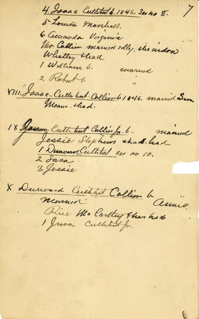 Collyer now Collier Genealogist Notes_Page_8