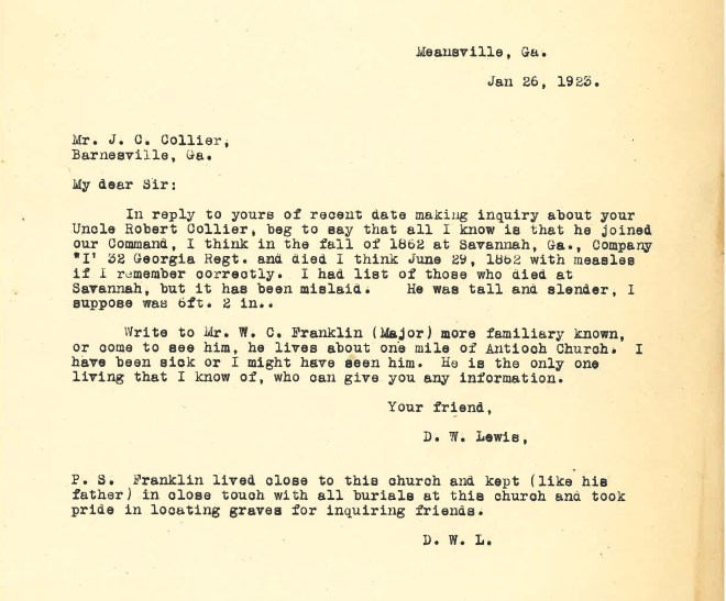 1923_01_26_Ltr D W Lewis to JCC re Robert Thomas Collier CSA_Page_2