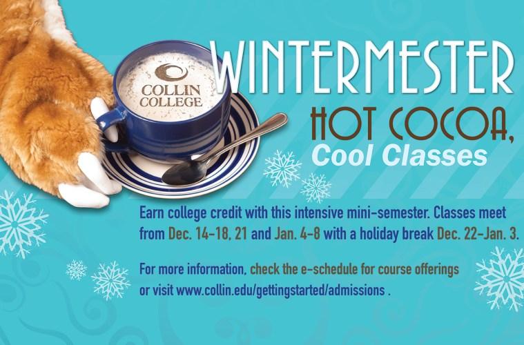 Collin College Wintermester ad