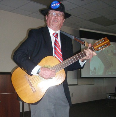 Jerry Woodfill performing a musical number