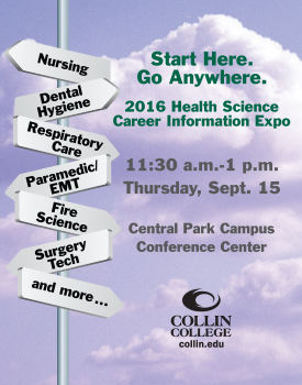 Health Science Career Info Expo ad