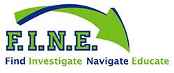 F.I.N.E. Logo - Find, Investigate, Navigate, Educate