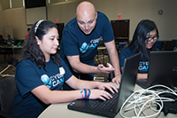 Teacher and Student at Collin Cybersecurity summer camp