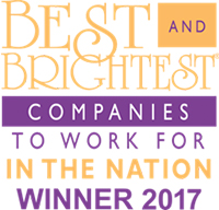 2017 Winner for Best & Brightest Companies To Work For In The Nation Logo