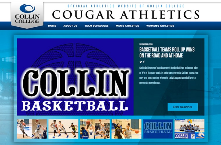 Collin College Scores with New Athletics Website – Collin