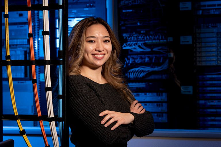 Collin College alumna Jensine Logrono earned an Associate of Applied Science in Cybersecurity degree in December 2018 and was thrilled to learn that the college would be offering classes for a new Bachelor of Applied Technology (BAT) in Cybersecurity degree this spring.
