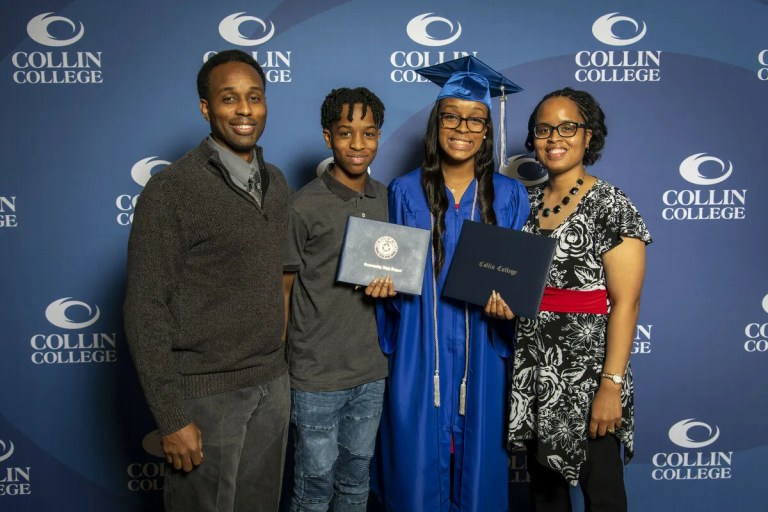 Collin College awarded more than 2,000 degrees and certificates to students in the Class of 2021 — but several students who attended the college's graduation were still days away from walking across their high school graduation stages.