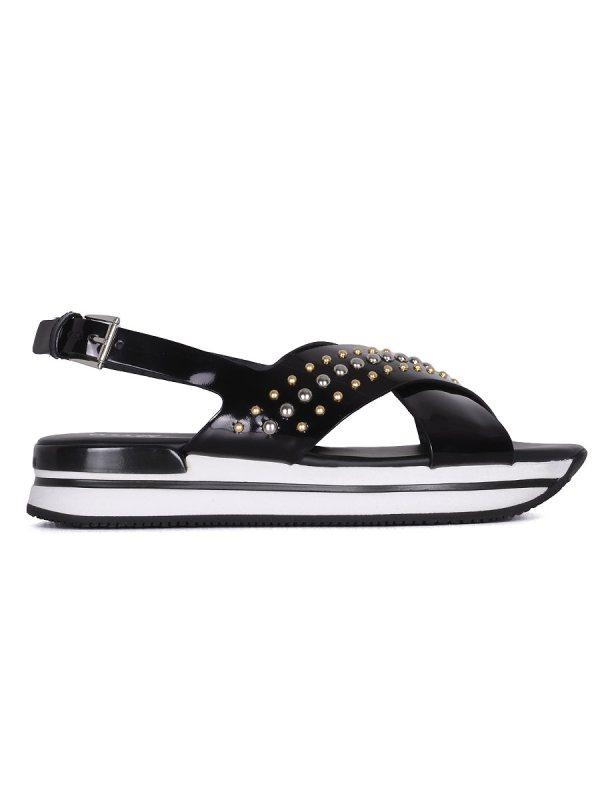 Sandalo incrocio H257 donna-0