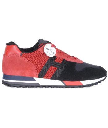 Hogan-lacci-running-bimateriale-nero-rosso-1