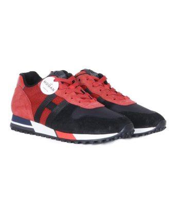 Hogan-lacci-running-bimateriale-nero-rosso-2