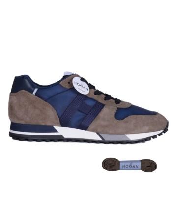 Hogan-lacci-running-trimateriale-blu-cognac-1