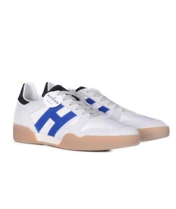 Hogan-lacci-sport-bimateriale-bianco-blu-2