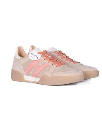 Hogan-lacci-sport-multimateriale-beige-rosa-2