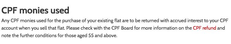 CPF Monies Used