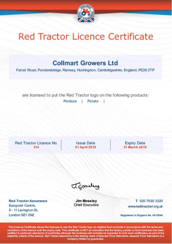 Red Tractor 2018 Produce