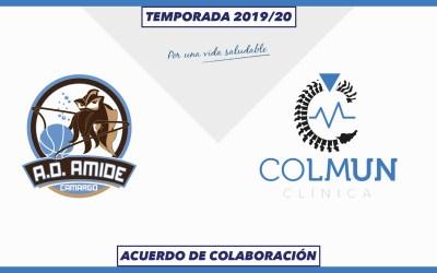 LA CLÍNICA COLMUN Y AMIDE CAMARGO UNEN DE NUEVO SUS FUERZAS PARA LA TEMPORADA 2019/20