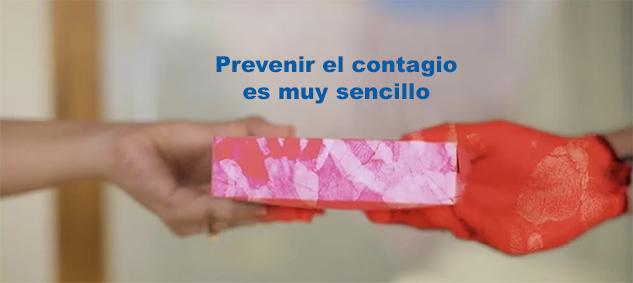 ASÍ DE SENCILLO ES PREVENIR EL CONTAGIO