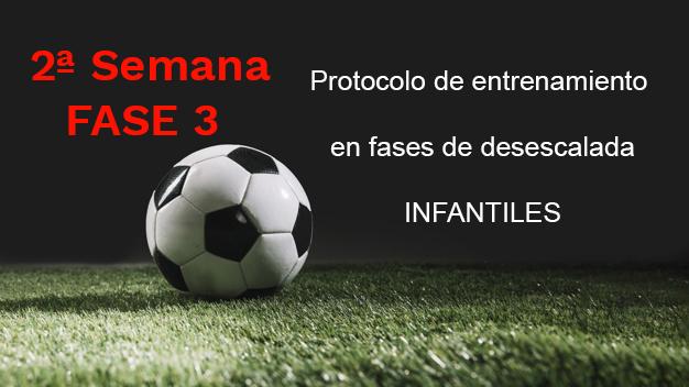 Semana 2 FASE 3 Protocolo de entrenamiento en fases de desescalada para la categoría de Infantiles