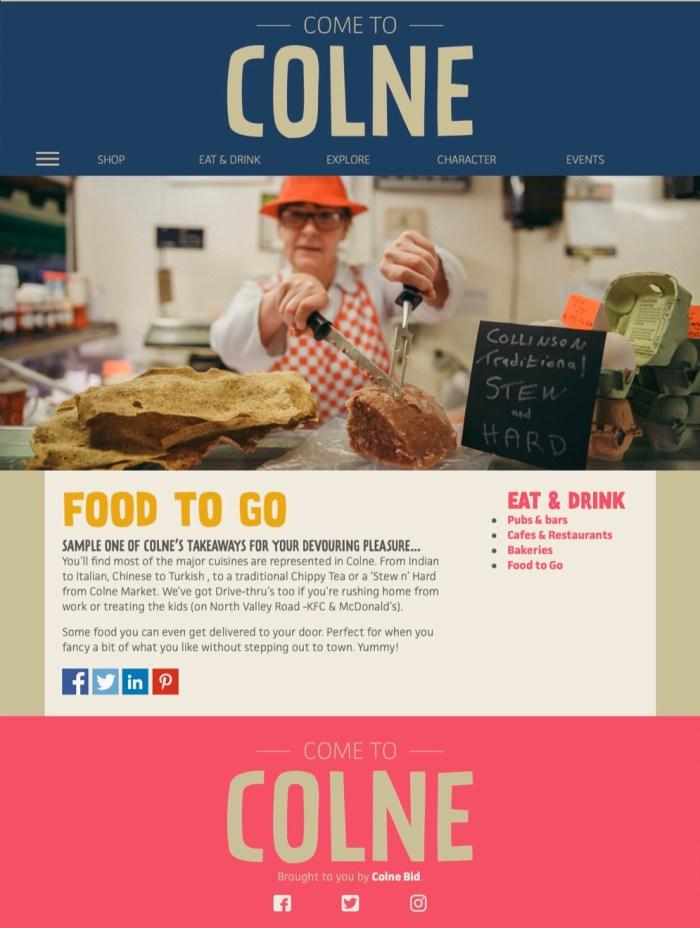 come to colne website