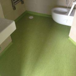Baño hospital con pavimento antideslizante