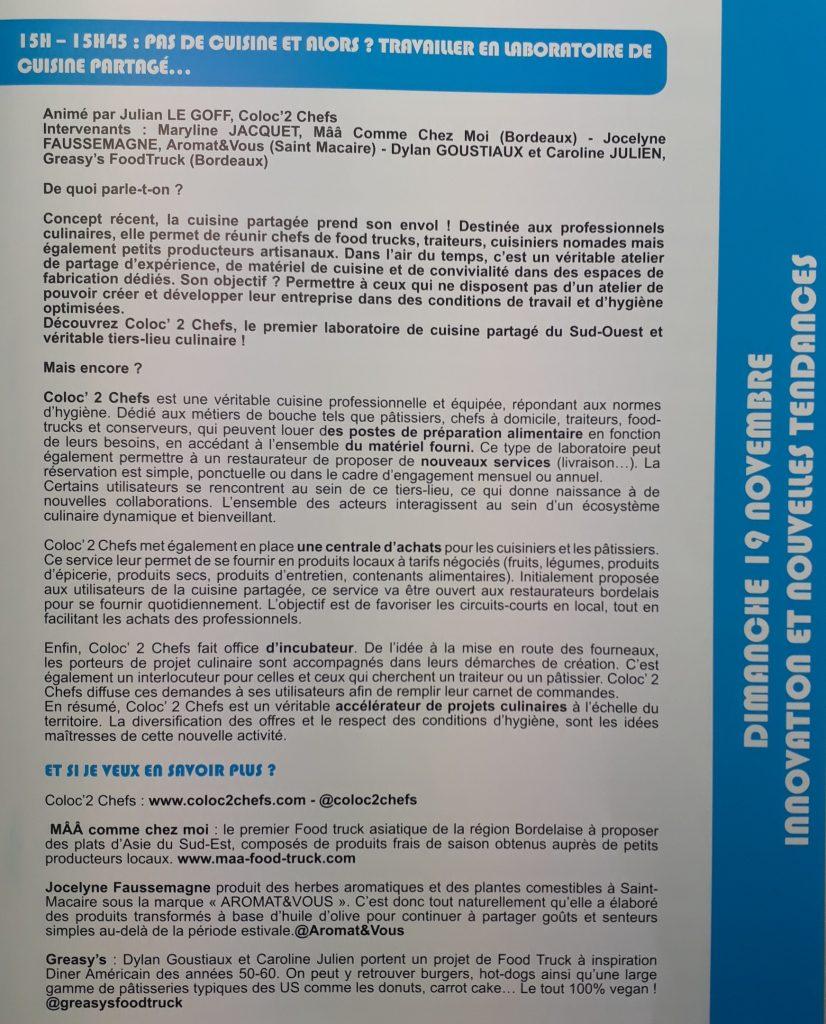 Exp'hotel - programme de la conférence