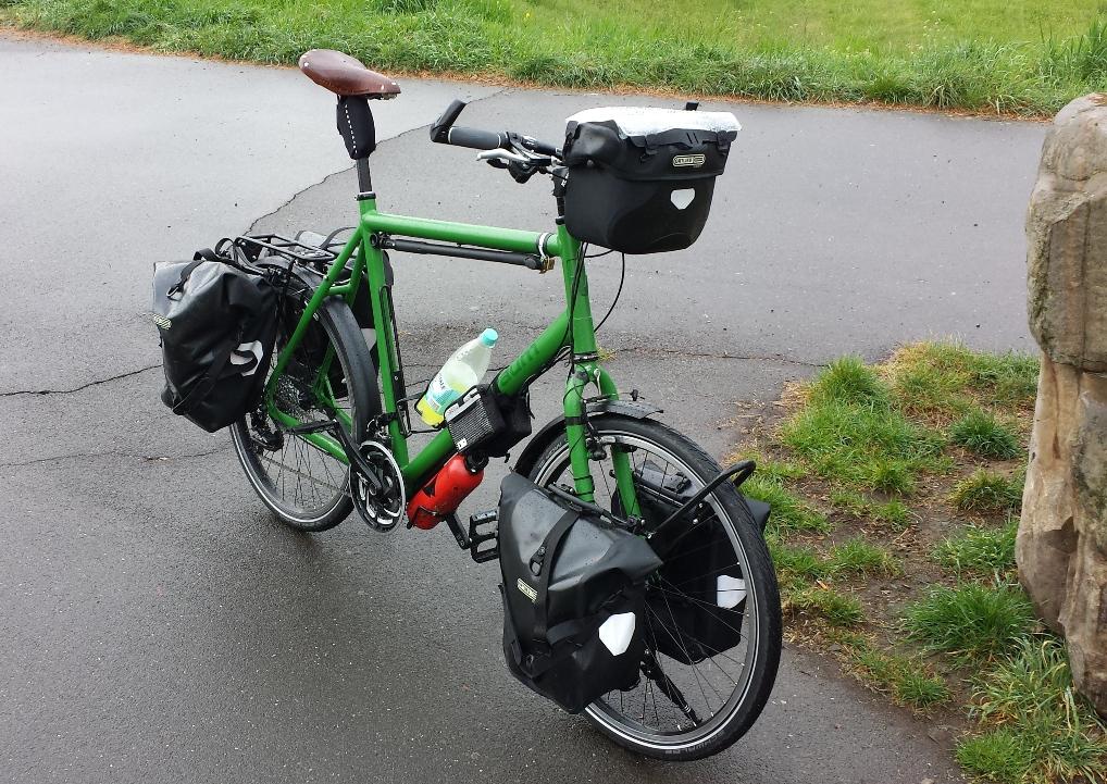 Erste Jungfernfahrt mit dem neuen Rad!