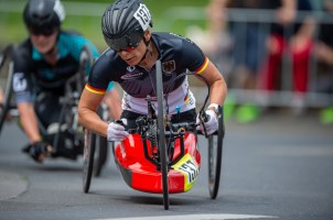 LONGERICH, GERMANY - JUNE 10: Andrea Eskau of GER competing at the Race Track - Longericher Hauptstrasse during the Cologne Classic 2019 - Road Races - Strassenrennen on June 10, 2019 in Longerich, Germany (Photo © 2019 Oliver Kremer | https://sports.pixolli.com)