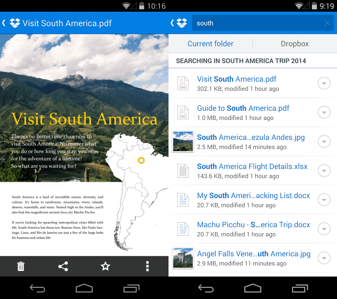 dropbox android dual Dropbox para Android ahora permite ver documentos