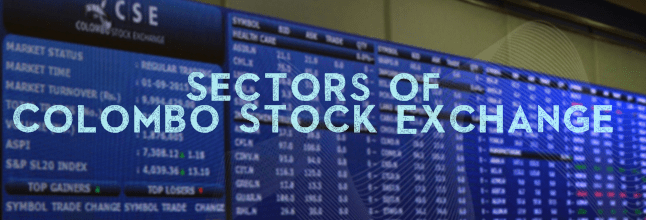 Sectors of Colombo Stock Exchange CSE Stock