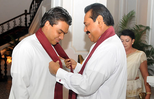 Namal Rajapaksa, eldest son of President Mahinda Rajapaksa, Member of Parliament, and heir apparent