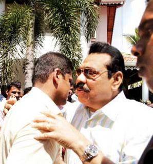 Rajapaksa and Lansa| File Phot0